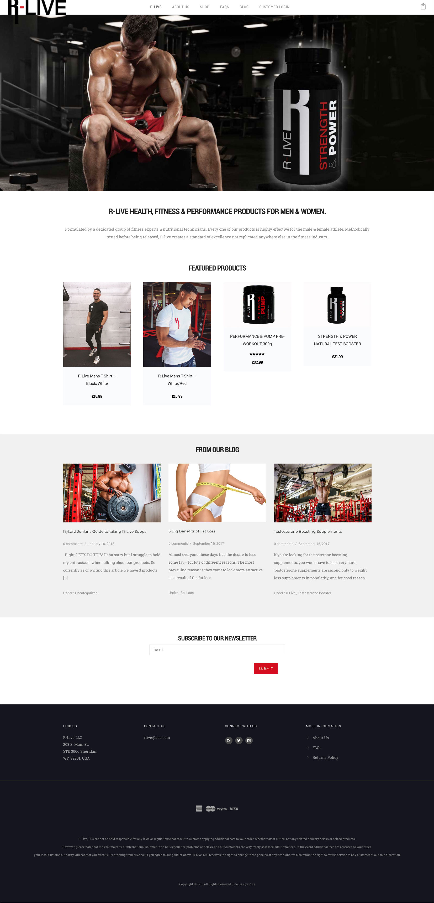 R Live Ecommerce Website Design